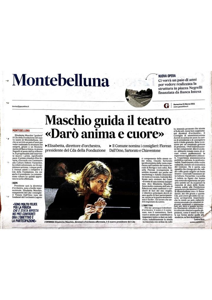 Nomina alla presidenza della Fondazione Teatro di Montebelluna